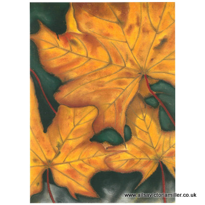 'Golden Leaves' limited print (large)