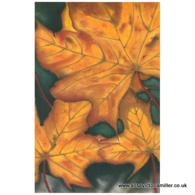 'Golden Leaves' limited print (small)